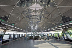 新加坡MRT驻地内部  库存照片