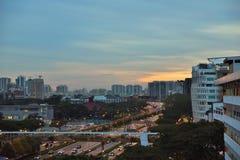 新加坡nightscene 图库摄影