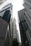 新加坡Skyscrappers在商业区 库存图片