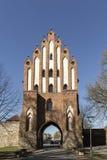 新勃兰登堡,梅克伦堡,德国Friedland门  库存照片