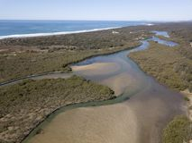 新南威尔斯北海岸的Urunga盐水湖 免版税图库摄影
