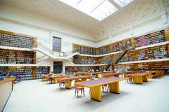 新南威尔斯州立图书馆内部,一部分,叫作米歇尔图书馆是大参考 库存照片