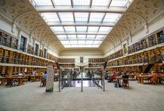 新南威尔斯州立图书馆内部,一部分,叫作米歇尔图书馆是大参考 图库摄影
