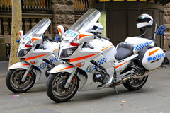 新南威尔斯警察摩托车 免版税库存照片
