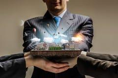 新发展计划项目 混合画法 免版税库存图片