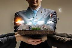 新发展计划项目 混合画法 免版税图库摄影