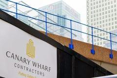 新发展计划建造场所在金丝雀码头 库存图片
