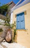 新古典希腊的房子 免版税图库摄影