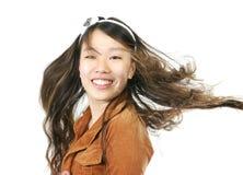 新可爱的亚裔女孩 免版税库存图片