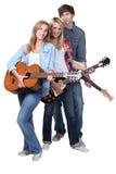 新吉他弹奏者 库存图片