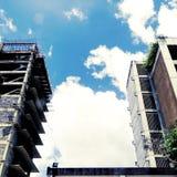 新和老企业大厦 免版税库存图片