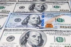 新和老100个美国人美元 免版税库存图片
