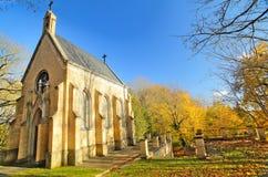新哥特式埋葬教堂在Guetzkow,梅克伦堡福尔波门,德国 库存图片