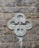 新哥特式样式十字架 免版税库存图片