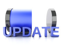 更新在白色背景的装货概念 免版税库存照片