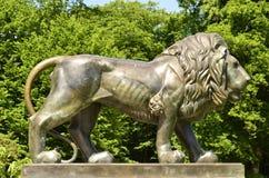 新坏城堡狮子的muskau 免版税图库摄影