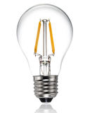 新型带领了电灯泡 库存图片