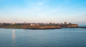 新堡海岸线,英国 图库摄影