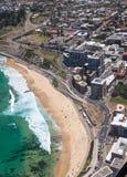 新堡海滩澳大利亚鸟瞰图  免版税库存图片