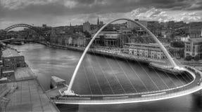 新堡黑白照片桥梁 库存照片