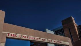 新墨西哥大学在亚伯科基 库存图片