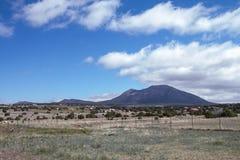 新墨西哥天空和一开放prarie 免版税库存照片