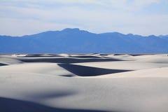 新墨西哥白色沙子 免版税库存照片