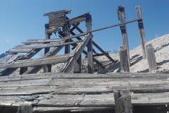 新墨西哥矿废墟 免版税库存照片