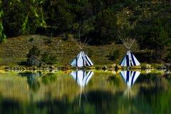 新墨西哥赌博娱乐场物产的帐篷  免版税库存照片
