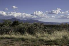 新墨西哥风景在一个晴天 免版税库存照片