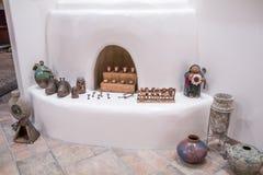 新墨西哥Adobe壁炉 库存照片