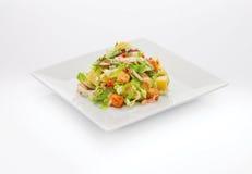 新夏天菜沙拉用多士 图库摄影