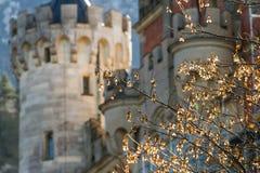新天鹅堡城堡的塔 免版税图库摄影