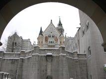 新天鹅堡城堡 免版税图库摄影