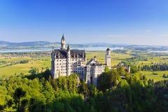 新天鹅堡城堡 库存图片