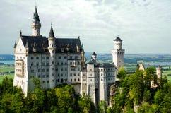 新天鹅堡城堡 库存照片