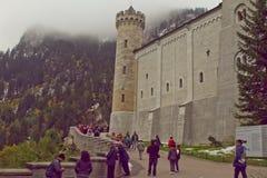 新天鹅堡城堡 免版税库存照片