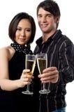 新夫妇庆祝 免版税库存图片
