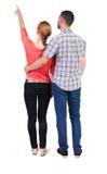 新夫妇指向 免版税库存图片