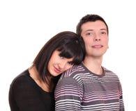 新夫妇纵向 免版税图库摄影