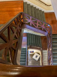 新奥尔良与拿破仑死人面模的螺旋形楼梯结尾 免版税库存图片