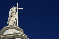 从新奥尔良公墓的雕象 免版税库存照片