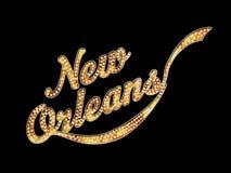 新奥尔良大门罩词艺术 库存图片