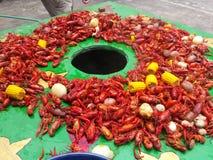 新奥尔良小龙虾煮沸 免版税库存图片