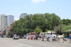 新奥尔良法国街区和杰克逊广场 库存照片