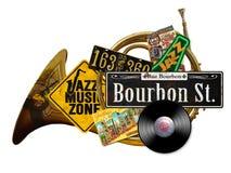 新奥尔良葡萄酒民间艺术标志 免版税图库摄影