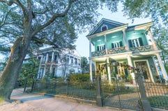 新奥尔良,美国- 2016年2月:美好的五颜六色的家alon 库存图片