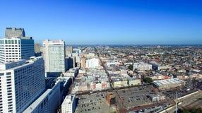 新奥尔良, LA - 2016年2月:空中城市视图 新奥尔良a 免版税库存照片