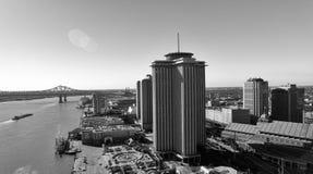 新奥尔良- 2016年2月11日:城市地平线鸟瞰图  Th 库存照片