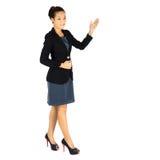 新女商人存在她的工作 免版税图库摄影